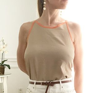 Tan and peach camisole size M